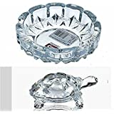 Supermall New Look Crystal Finish Wealth Sign Tortoise With Plate Statue Showpiece Vastu Decorative Turtle Figurine Home Interior Decor Item Feng Shui Table Decoration Idol Best For Fulfill Your Wishes And Brings Prosperity & Happiness In Your Life-(1