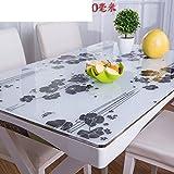 XKQWAN Pvc Einweg Wasserdicht ?l-beweis Weichglas Hitzebest?ndige tischdecke Alter Coffee table pad tischdecke-C 80x120cm(31x47inch)