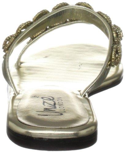 Unze Evening Slippers, Sandali donna Oro (Gold (L18800W))