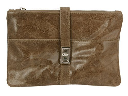 Slingbag Düsseldorf SLINGBAG Janine II Clutch/Handtasche/Umhängetasche aus hochwertigem Leder/FARBAUSWAHL