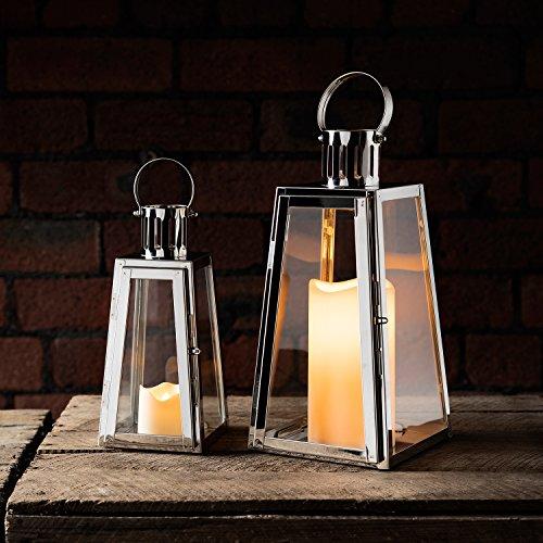 lstahl Laternen mit LED Kerzen Timer Lights4fun ()