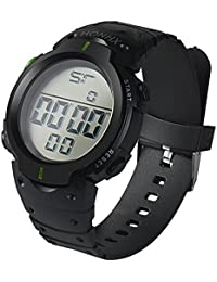 Relojes Hombre Digitales Yesmile Relojes Impermeables de Moda Cronómetro Digital de LCD