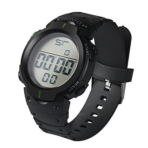 LILIGOD Männer Mode wasserdicht Uhr Herren Boy LCD Digital Uhren Stoppuhr Datum Gummi Sport Armbanduhr Outdoor Sport Einfach Lässig Gummiuhr Tägliche Uhr Herrenuhr -