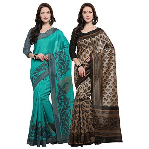 Rajnandini Women's Jute Silk Saree With Blouse Piece (JOPLNB11002-13_Multicolor_Free Size)