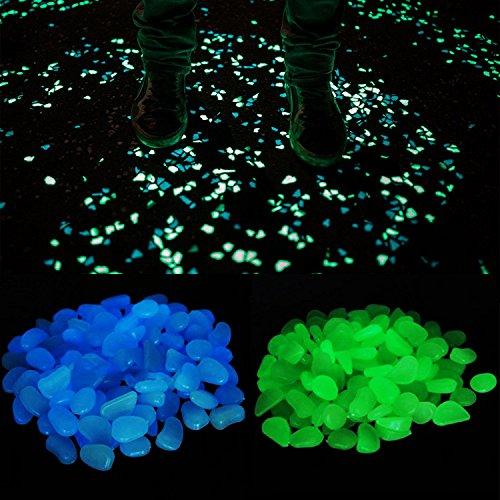 Piedras decorativas que brillan en la oscuridad 300 unidades