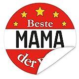 Aufkleber Beste Mama der Welt ♥ 9,5 cm gross ♥ rund ♥ inkl.