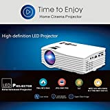 Berry Durable Best For Office Use Wi-Fi Ready UC 36 Mini LED Portable Projector Full HD Support Home Theater USB/AV/HDM..…(White)