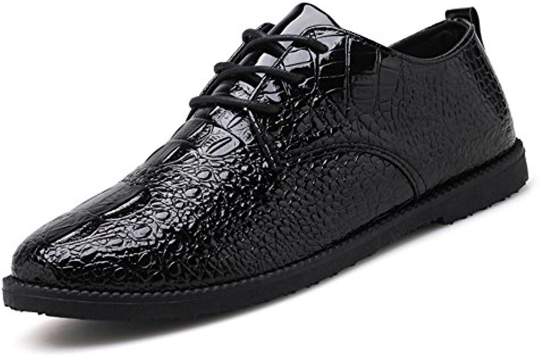 Xujw shoes  2018 Schuhe Herren  Herren Loafer Flache Ferse Schlangenleder PU Leder Schnürschuh Solid Color Oxford