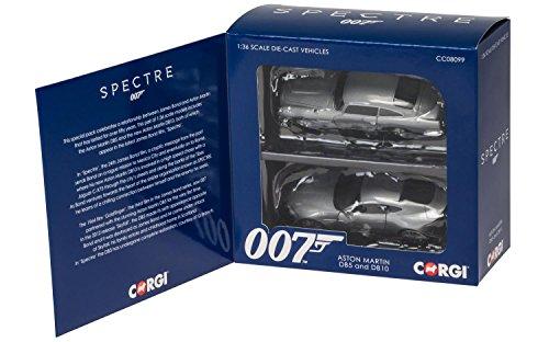 "Hornby Corgi \""James Bond Aston Martin Spectre\"" Auto, 2 Stück, Silber"