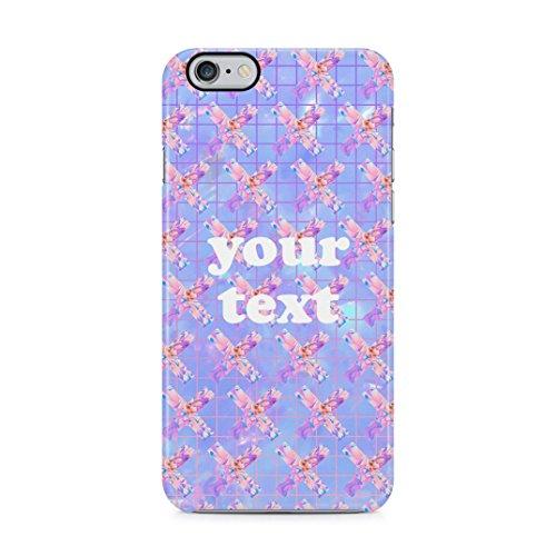 Custom Personalised Pastel Kawaii Tumblr Text, Create Your Own Case, Custom Quote Custodia Protettiva In Plastica Rigida Cover Per iPhone 5 / iPhone 5s / iPhone SE Case Floral Quote