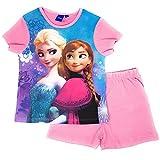 Frozen Pyjama Schlafanzug Die Eiskönigin 104 110 116 128 Schlafanzug Shortie Kurz Anna und ELSA Shorty (Rosa, Gr. 116 (5-6 Jahre))