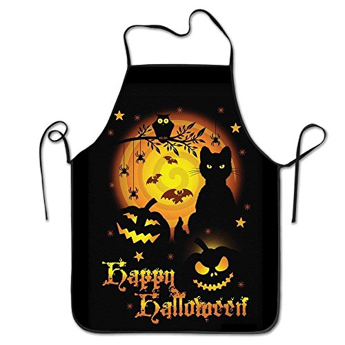 Kochschürze Personalized Kitchen Aprons Happy Scary Halloween Horror Idea Comfortable Custom Fashion Housewife Home Commercial Chefs Apron for BBQ,Cooking,Working,Grilling,Baking,Gardening Artist Smo