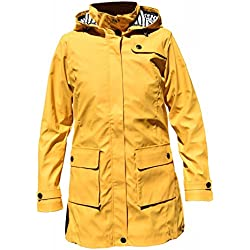 Batela Chubasquero Para Mujer Longitud 3/4 Color Amarillo