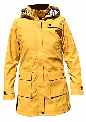Batela Damen Regenmantel 3/4 Länge, Farbe:gelb, Größe:36