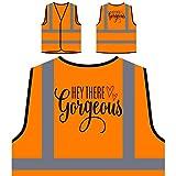 Hola Preciosa Chaqueta de seguridad naranja personalizado de alta visibilidad j980vo