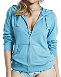 Womens Simply Yours Hooded Zip Jacket in Turquoise