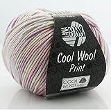 Cool Wool Print * Merino Wolle Cool Wool Print Lana Grossa in Petunie (Fb 747) * 1 Knäuel Wolle bunt + GRATIS MyOma-Label - Nadelstärke 3-3,5 mm - 50g/160m - 100% Merinowolle – Lana Grossa Wolle