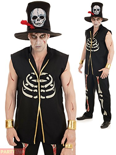 Voodoo Witch Doctor Men's Costume Halloween Fancy Dress - Witch Doctor Fancy Dress Kostüm