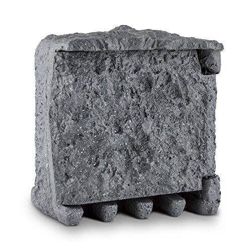 Preisvergleich Produktbild Waldbeck Digital Rock • Gartensteckdose • 2-fach Steckdosen-Verteiler • Polyresin Kunststein • Granitoptik • max. 3680 Watt Gesamtleistung • 3 m Kabellänge • Zeitschaltuhr • Countdown- / Zufallsfunktion • spritzwasser- und winterfest nach IP44 • grau
