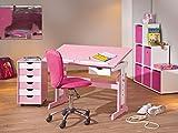 Links 99800350 Kinderschreibtisch Schülerschreibtisch Schreibtisch Kinderzimmer Tisch, rosa - 14
