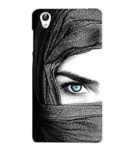 Vizagbeats Blue Eye Lady Back Case Cover for Oppo F1 Plus