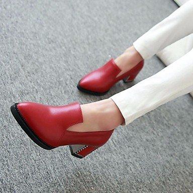 Scarpe Donna FYZSDONNA stivali invernali Mary Jane Pu casual tacco grosso US8 / EU39 / UK6 / CN39