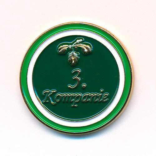 hegibaer Schützenfest Hofstaat 3.Kompanie mit Eichenlaub Metall Button Pin Anstecker 0893