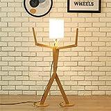ZYY&LIGHT® Stehlampe Holz Original 1,1 m Stehlampe Zimmer Stehende Licht Variety Charakter Modellierung Schatten Leinen Weiß Moderne Cool für Schlafzimmer Wohnzimmer , A
