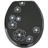 EISL EDBF01 Black Flower Abattant WC en MDF