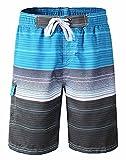 Herren Schnelltrocknend Mesh gefüttert Wassershorts Board Shorts Badeshorts Strand Schwimmen Surfen Hose Bademode Leisure Wear Blau XXXL