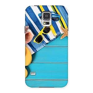 Cute Cool Beach Print Back Case Cover for Samsung Galaxy S5