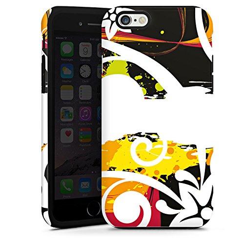Apple iPhone 4s Housse Étui Silicone Coque Protection Fioriture couleurs Fleurs Cas Tough terne