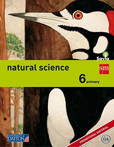 Portada del libro Natural science. 6 Primary. Savia - 9788415743811