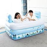 Zusammenklappbare aufblasbare Badewanne Blau Verdickung Green Swimming Pool (Size : 150 * 112 * 50cm)