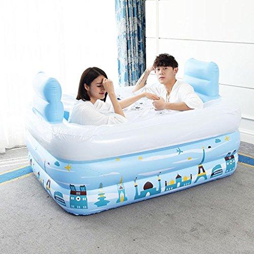 Zusammenklappbare aufblasbare Badewanne Blau Verdickung Green Swimming Pool (Size : 150*112*50cm)
