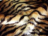 Animal Fun Kunstpelz Stoff Material - Tiger - 10Mtr -