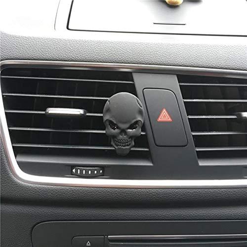 FASHLADY Un Teschio di Metallo di 4 Colori Automobile Clip di Stile del Profumo Lady Cranio del Metallo Automobile Che designa l'ornamento Deodorante Decorare: