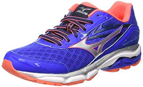 Mizuno Wave Inspire 12 - Zapatillas de running para mujer, color azul - blue (dazzling blue/silver/fiery coral), talla 38.5 EU