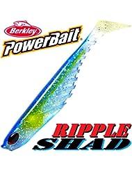 'Berkley Power Bait Ripple Shad 5Caoutchouc poisson 13cm OCEAN Lot de 3dans le SET Nouveau.