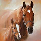 Ambiente Serviettes Lunch/Party env. 33 x 33 cm CHEVAUX - Horse With foal