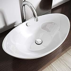 design aufsatzwaschbecken inkl lotus effekt durch nano versiegelung aus keramik bth. Black Bedroom Furniture Sets. Home Design Ideas