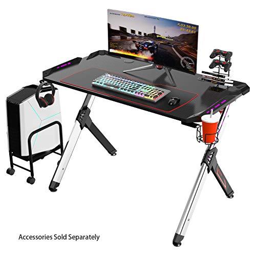 Eureka Ergonomic R1-S Escritorio para juegos: escritorio para computadora de juegos, mesa...