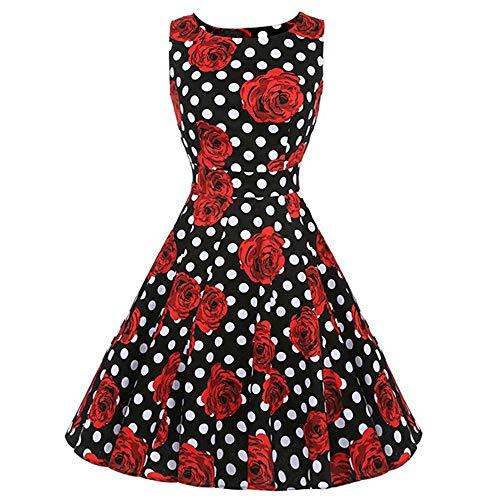 SXZG 2019 Nouvelle Jupe rétro tempérament Hepburn Wind Dress Print Slim Grande Robe