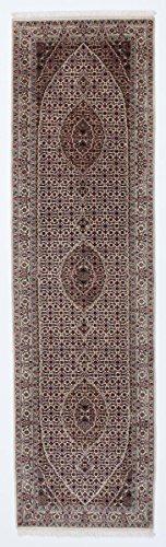Tabriz Orientalische Teppiche (Indo Täbriz Royal Teppich Orientalischer Teppich 299x82 cm, Läufer, Indien Handgeknüpft Klassisch)