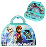 alles-meine.de GmbH 51 TLG. Set __ Stifte-Koffer -  Disney Frozen - die Eiskönigin  - Malkoffer mit Stiften + Filzstifte + Buntstifte + Wasser Farben + Wachsmal Farben + Pinse..