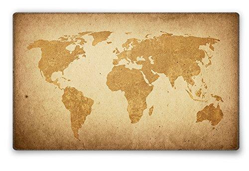 Silent Monsters Tapis de Souris Taille s (240 x 200 mm) Mouse Pad Petit, Motif Carte Globale Brune, Approprié pour Souris de Bureau et Souris de Gaming