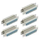 sourcingmap 25 pin D-SUB DB25 weiblich auf männlich Lötversion Steckern (Paar 5 Stück)