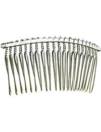 Huertuer 5 pz 20-teeth pettine da sposa accessori per capelli copricapo  (argento) 99561434e272