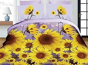 200x220 cm 3D Microfaser Bettwäsche Bettbezüge Bettwäschegarnituren 3tlg schöne Farben und Muster Blumenmuster Modern Folk FSH311