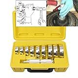 CCLIFE Disques de pression pour roulement - Coffret Extracteur de roulement 10 pièces - pour presser et enfoncer les roulements/arbres/joints d'étanchéité